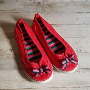 red Gymboree tennis shoe sz.2 girls NWOT